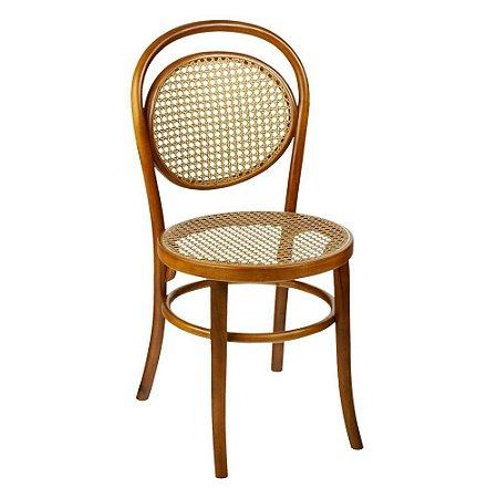 Cadeira Panamá Slim com assento e encosto em palha