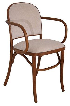 Cadeira Meridien com braços assento e encosto estofados