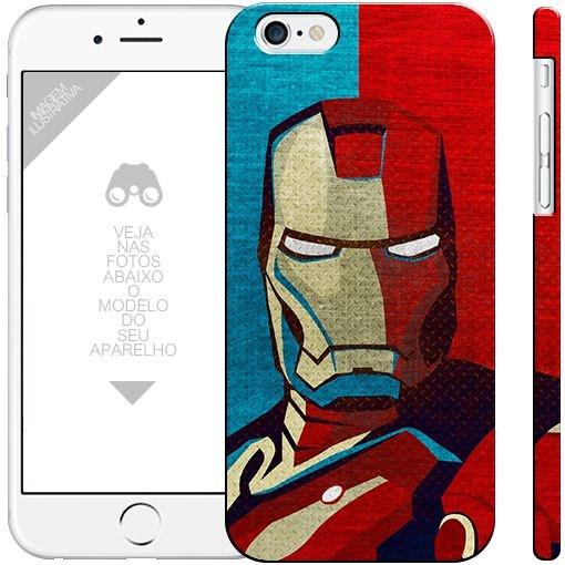 HOMEM DE FERRO - heróis 9| apple - motorola - samsung - sony - asus - lg |capa de celular
