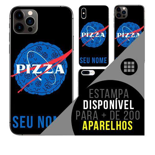 Capa de celular personalizada com nome - todos aparelhos - PIzza