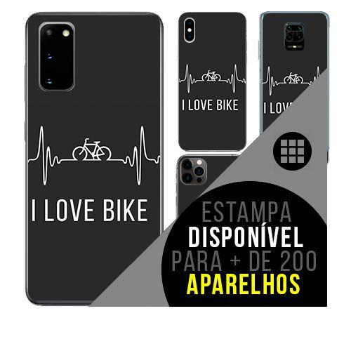 Capa de celular personalizada com nome - todos aparelhos - i Love Bike - Bicicleta