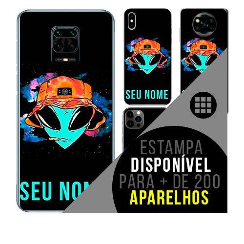 Capa de celular personalizada com nome - todos aparelhos - ET - Alienígena