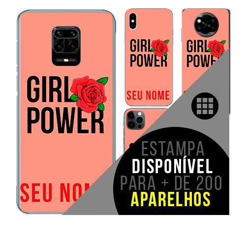 Capa de celular personalizada com nome - Girl Power - Empoderamento