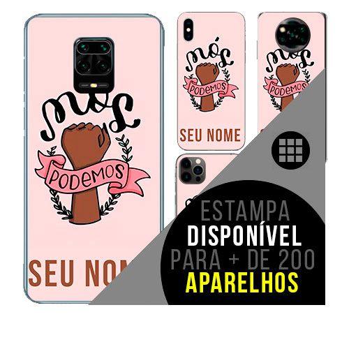 Capa de celular personalizada com nome - Sororidade - Feminismo