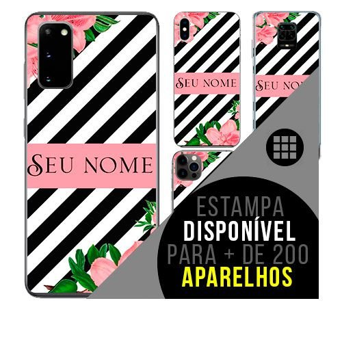 Capa de celular personalizada com nome - Flor