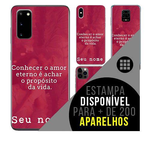 Capa de celular personalizada com nome - Frases de amor