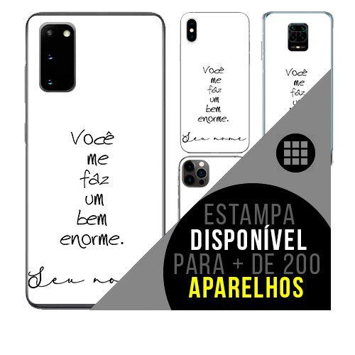 Capa de celular personalizada com nome - todos aparelhos - Frase amor namorados