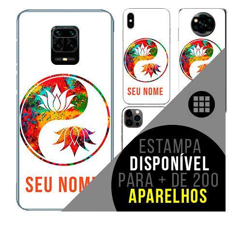 Capa de celular personalizada com nome - todos aparelhos - Good vibes yin yang