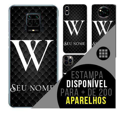 Capa de celular personalizada com nome - Letra W -  todos aparelhos