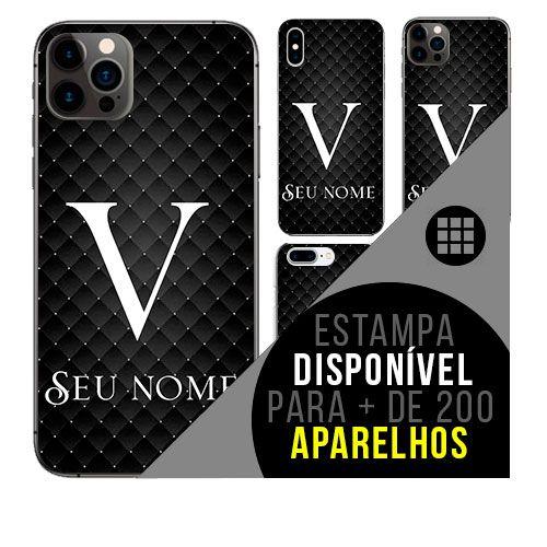 Capa de celular personalizada com nome - Letra V -  todos aparelhos