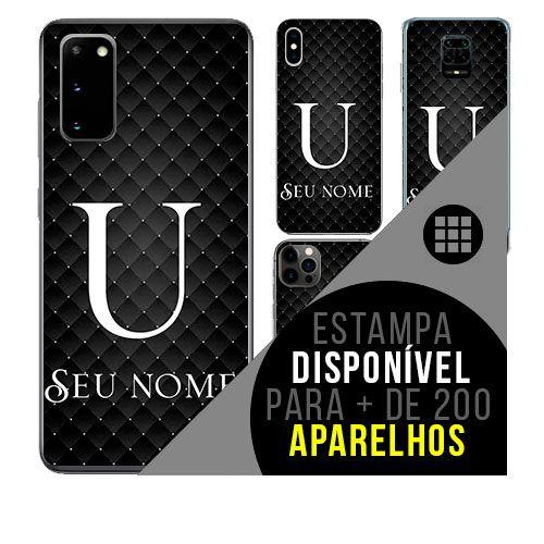 Capa de celular personalizada com nome - Letra U -  todos aparelhos
