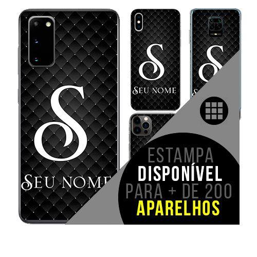 Capa de celular personalizada com nome - Letra S -  todos aparelhos