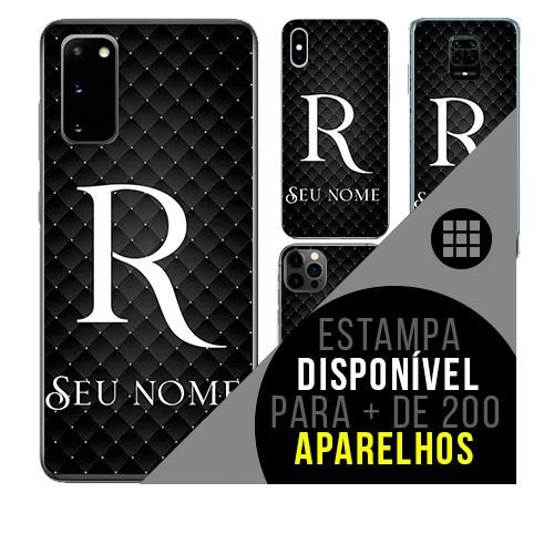 Capa de celular personalizada com nome - Letra R -  todos aparelhos