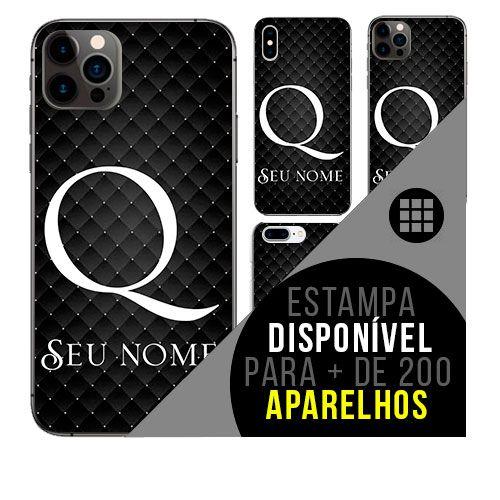 Capa de celular personalizada com nome - Letra Q -  todos aparelhos