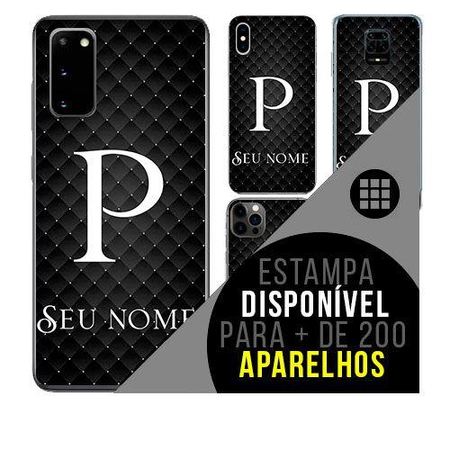 Capa de celular personalizada com nome - Letra P -  todos aparelhos