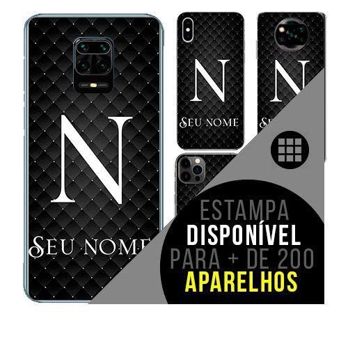 Capa de celular personalizada com nome - Letra N