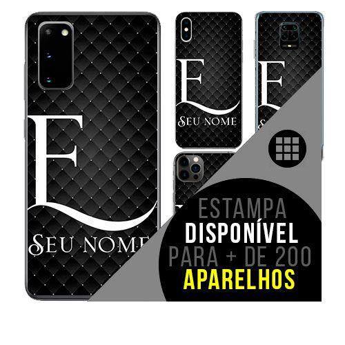 Capa de celular personalizada com nome - Letra E