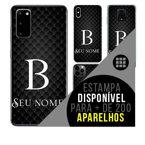 Capa de celular personalizada com nome - Letra B
