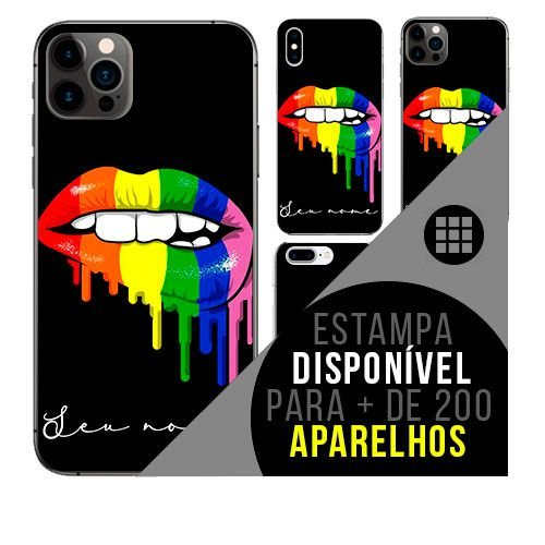 Capa de celular personalizada com nome - LGBT GAY