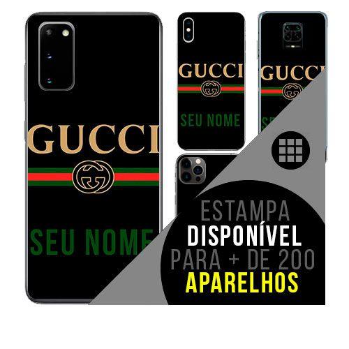 Capa de celular personalizada com nome - Gucci