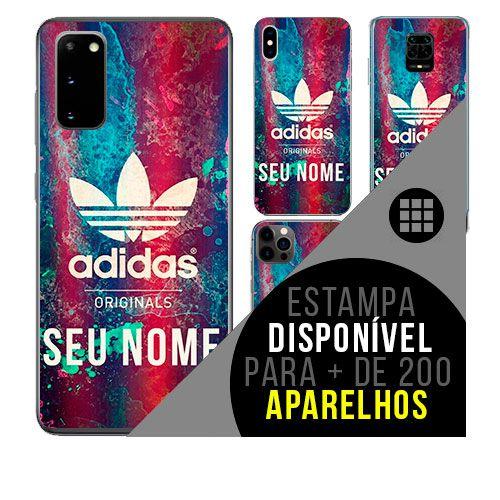 Capa de celular personalizada com nome - Adidas