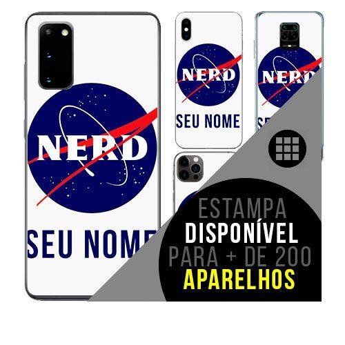 Capa de celular personalizada com nome - Nerd