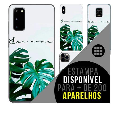 Capa de celular personalizada com nome - todos aparelhos - Planta Costela de Adão