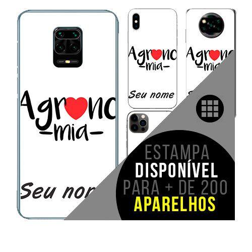 Capa de celular personalizada com nome - curso agronomia