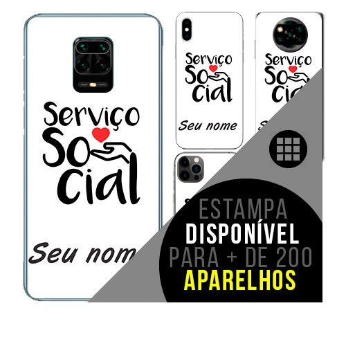Capa de celular personalizada com nome - Serviços Sociais