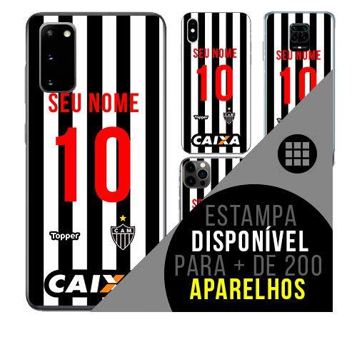 Capa de celular camisa de time com nome personalizável - Atlético Mineiro