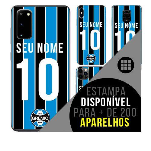 Capa de celular camisa de time com nome personalizável - Grêmio