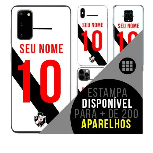 Capa de celular camisa de time com nome personalizável - Vasco