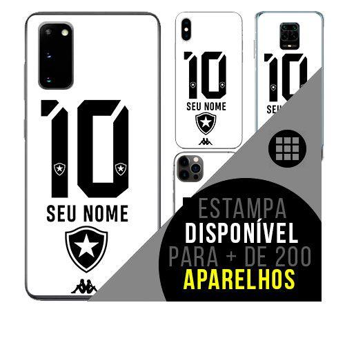 Capa de celular camisa de time com nome personalizável - Botafogo