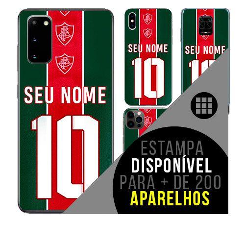 Capa de celular camisa de time com nome personalizável - Fluminense