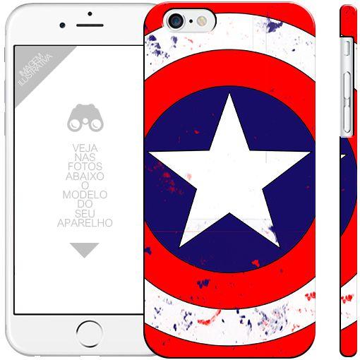 CAPITÃO AMÉRICA 14 - heróis 0 apple - motorola - samsung - sony - asus - lg capa de celular