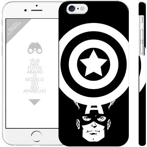CAPITÃO AMÉRICA  - heróis 17|apple - motorola - samsung - sony - asus - lg|capa de celular