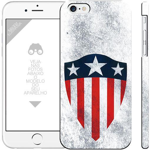 CAPITÃO AMÉRICA  - heróis 18|apple - motorola - samsung - sony - asus - lg|capa de celular