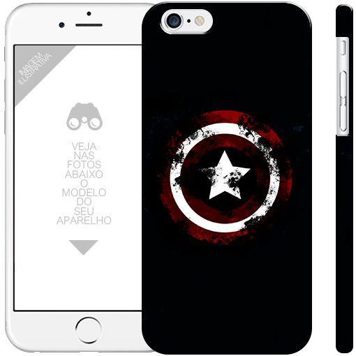 CAPITÃO AMÉRICA  - heróis 20|apple - motorola - samsung - sony - asus - lg|capa de celular