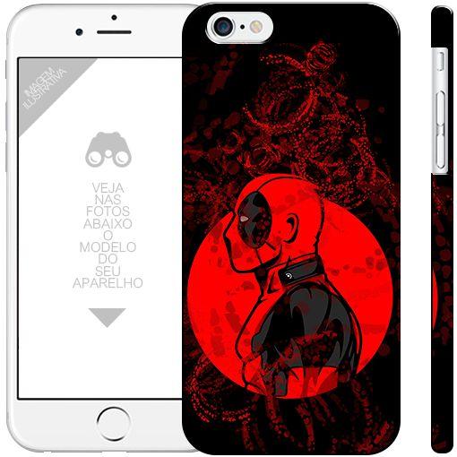 DEADPOOL herói 11  | apple - motorola - samsung - sony - asus - lg | capa de celular