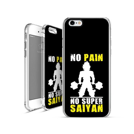 DRAGON BALL Z - no-pain-no-super-saiyan| apple - motorola - samsung - sony - asus - lg | capa de celular