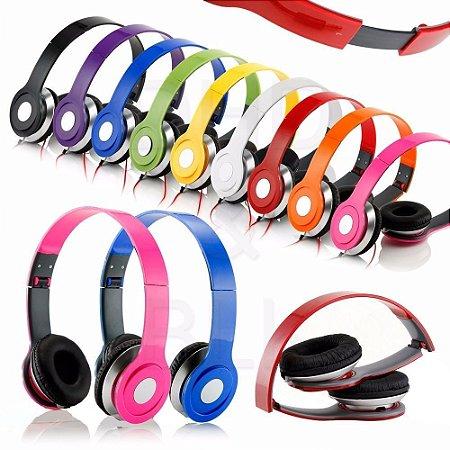 Fone de ouvido Headphone Colorido