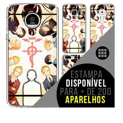 Capa de celular - FULLMETAL ALCHEMIST 18 [disponível para + de 200 aparelhos]