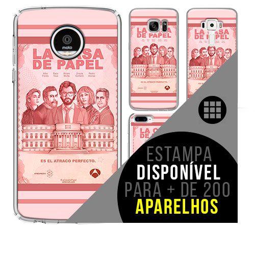 Capa de celular - LA CASA DE PAPEL [disponível para + de 200 aparelhos]