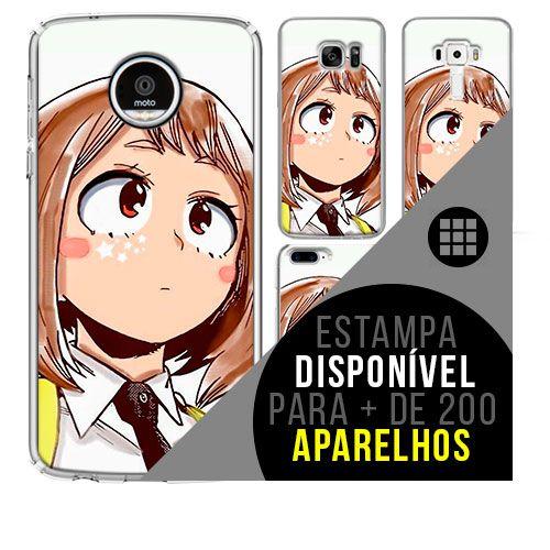 Capa de celular boku-no-hero - Ochaco-Urarakai 45 [disponível para + de 200 aparelhos]