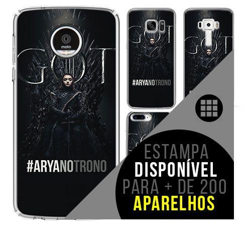 Capa de celular - GAME OF THRONES arya no trono [disponível para + de 200 aparelhos]