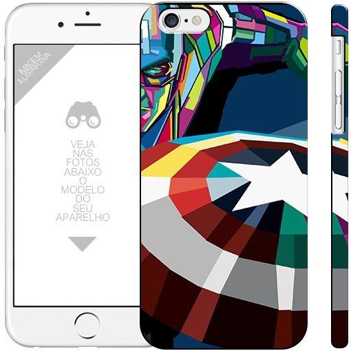 CAPITÃO AMÉRICA  - heróis 4|apple - motorola - samsung - sony - asus - lg|capa de celular