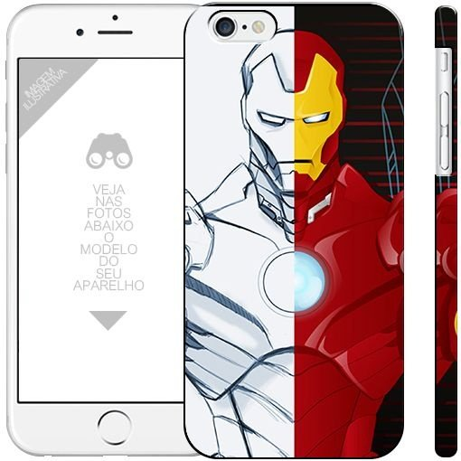 HOMEM DE FERRO - heróis 4| apple - motorola - samsung - sony - asus - lg |capa de celular