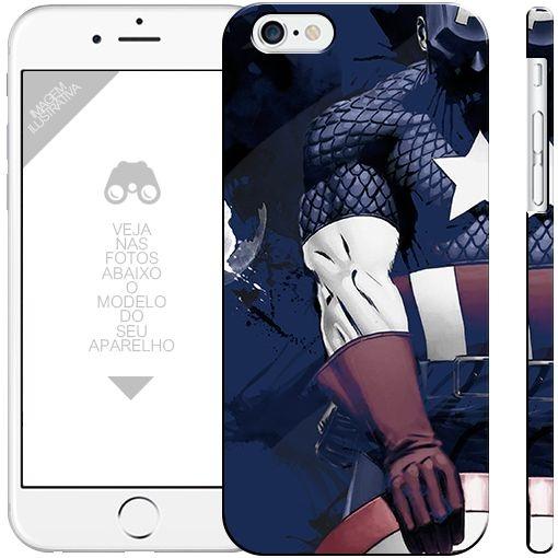 CAPITÃO AMÉRICA  - heróis 0|apple - motorola - samsung - sony - asus - lg|capa de celular