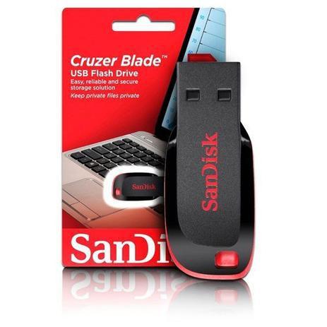 Pen Drive 128GB Sandisk Cruzer Blade SDCZ50-128G-B35