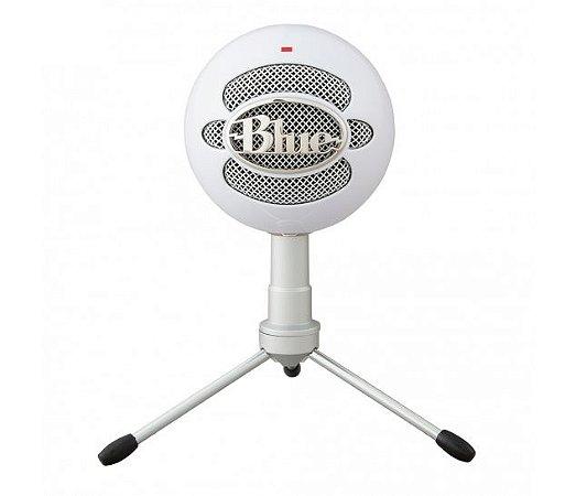 Microfone Condensador USB Blue Snowball Branco Ice Blue Logitech